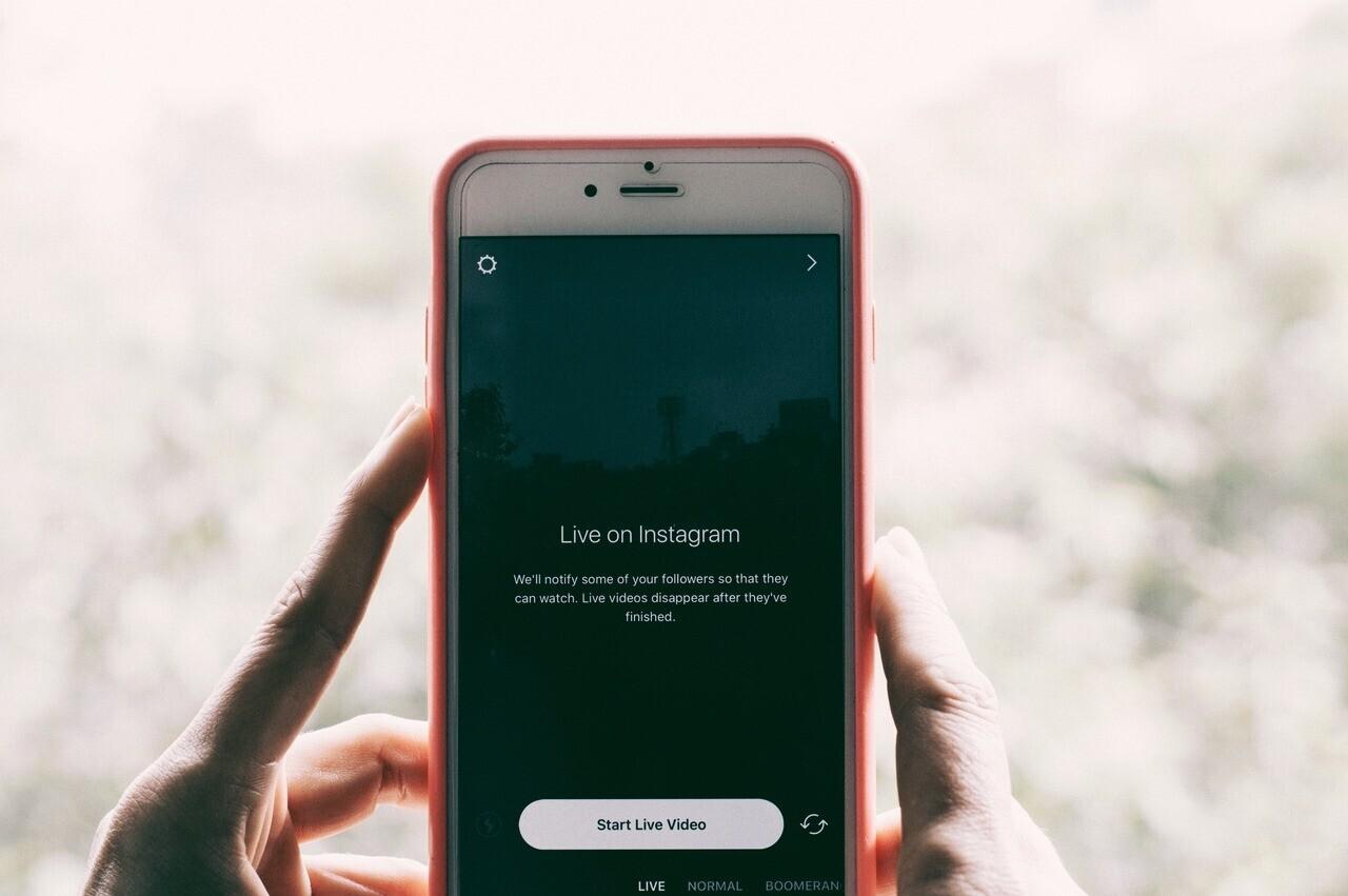 instagram live živě